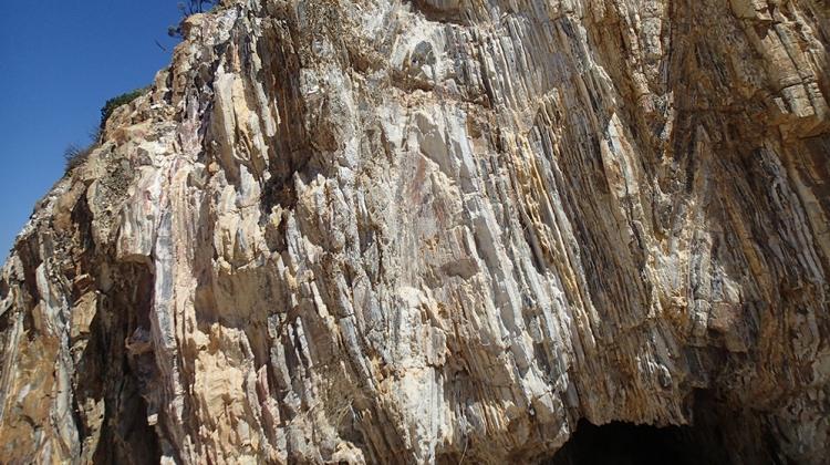 "Ian Coghlan ""Folded Narooma Chert rock layers"""