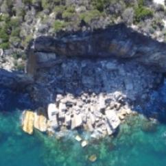 Cliff failure at North Head