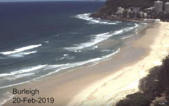 Burleigh Beach during TC Oma Screen Shot