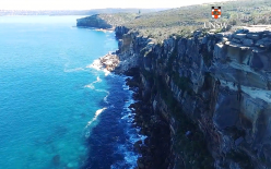 Drone survey of catastrophic cliff failure at North Head