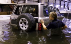 How easily a 4WD can be moved once buoyant in floodwater