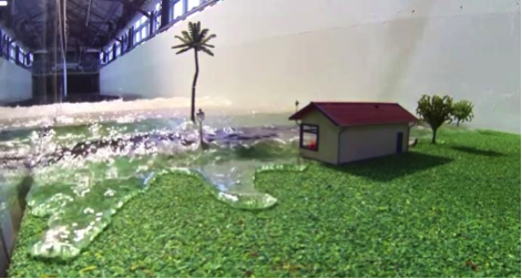 Cook Islands storm surge physical modelling