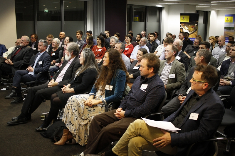 The audience, attended by more than 80 professionals