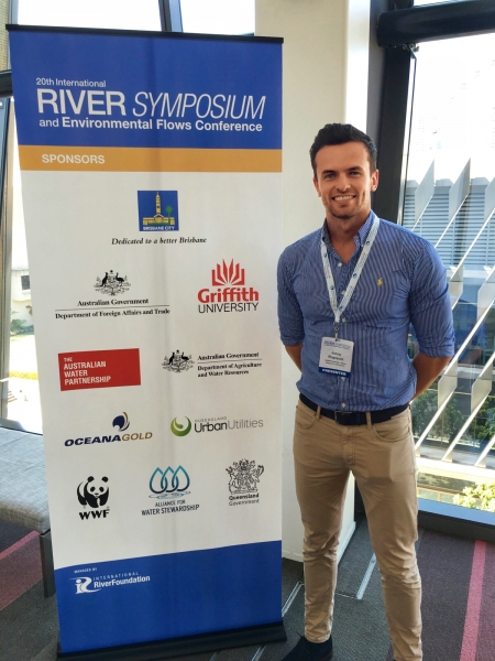 Jamie Ruprecht at the International River Symposium in Brisbane