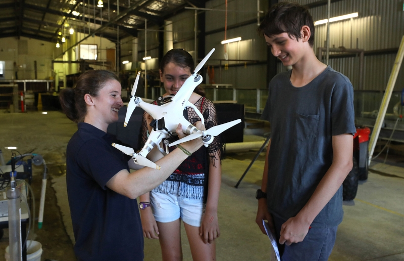 Alice Harrison at the very popular drone display