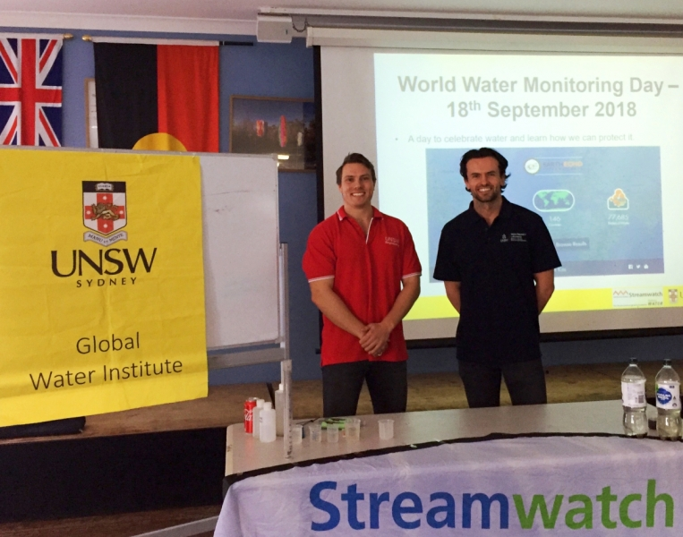 Tomas Beuzen and Jamie Ruprecht, were among those who visited seven schools across Sydney on World Water Monitoring Day.