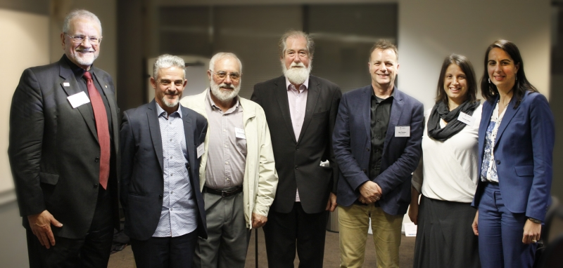 Leaders in the field of coastal and port engineering (from left to right): Prof Robert Care, Mr Edward Couriel, Mr Angus Gordon, A/Prof Ron Cox, Prof Ian Turner, Ms Tanya Stuhl and Ms Marika Calfas