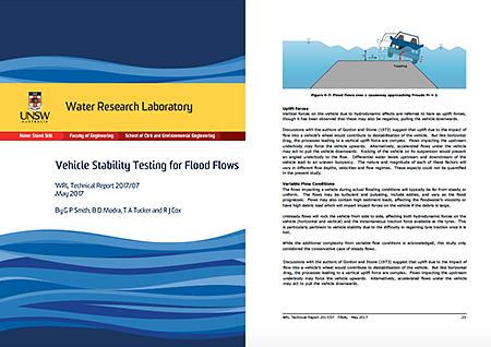 "Download WRLs report ""Vehicle Stability Testing for Flood Flows"" here"