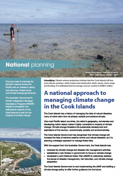 A national approach to managing climate change in the Cook Islands